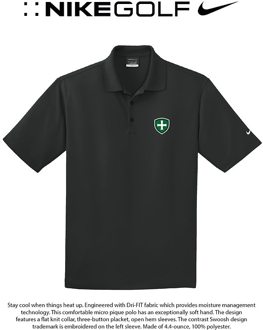 SJS Nike Shield Polo - Black