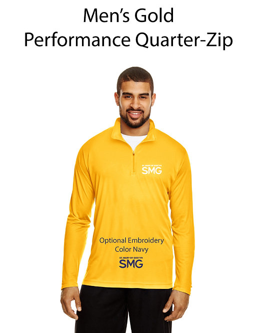 SMG Men's Quarter Zip Pullover - Gold