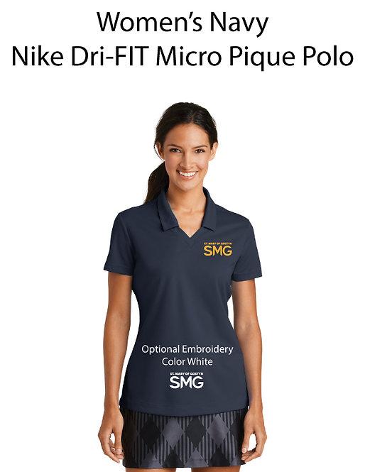 SMG Women's Nike Dri- Fit Polo - Navy
