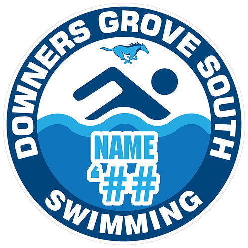 DGS Swimming Sticker