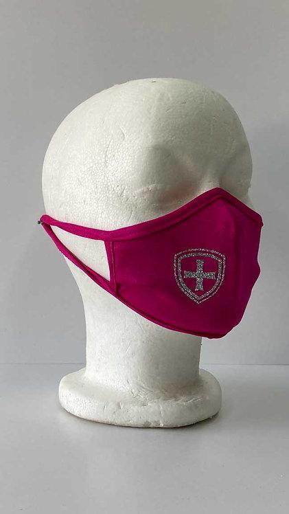 SJS Hot Pink Glitter Mask