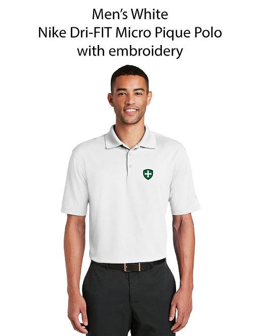 SJS Men's Nike Dri-Fit Polo -White