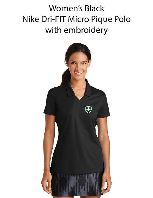 SJS Women's Nike Dri-Fit Polo - Black