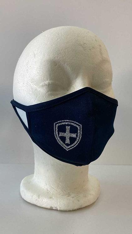SJS Navy Glitter Mask