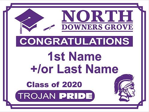 DGN Graduation Yard Sign