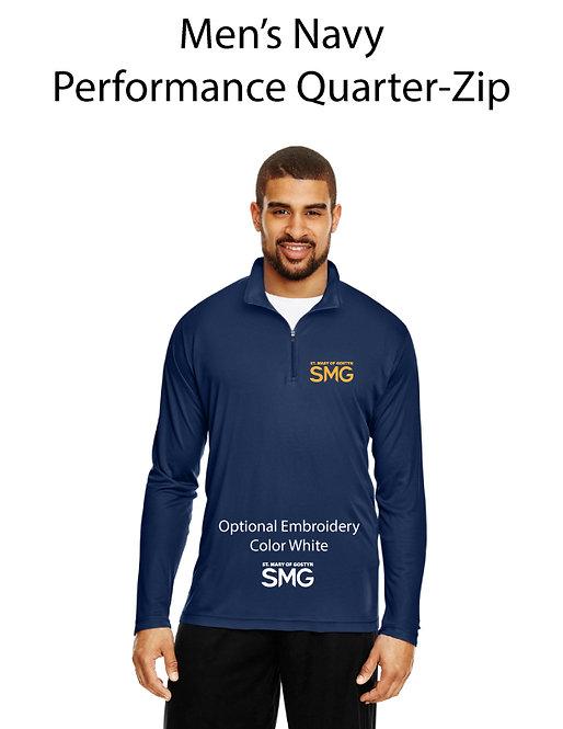 SMG Men's Quarter Zip Pullover - Navy