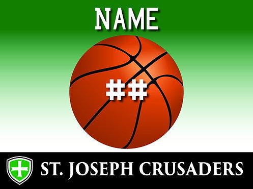 SJS Basketball Yard Sign