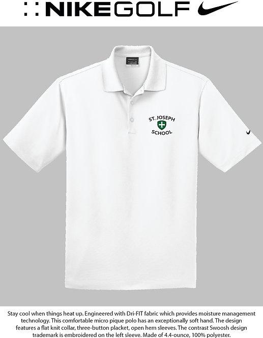 SJS Nike School Polo - White