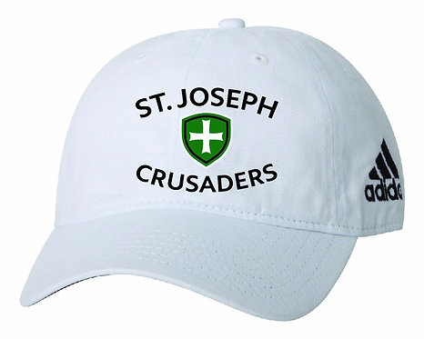 SJS Adidas Crusaders Hat - White