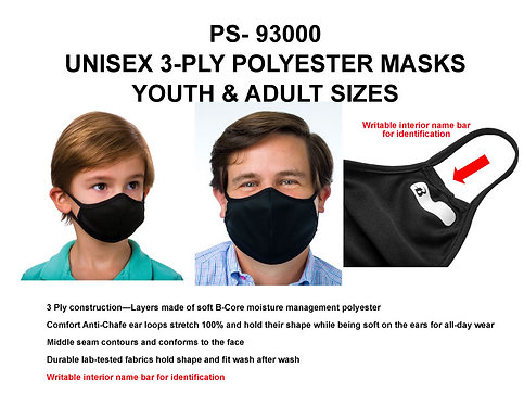 PS-93000 Best Value 3 Ply Masks