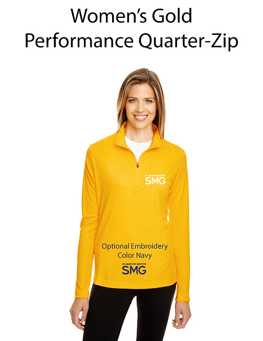 SMG Women's Quarter Zip Pullover - Gold