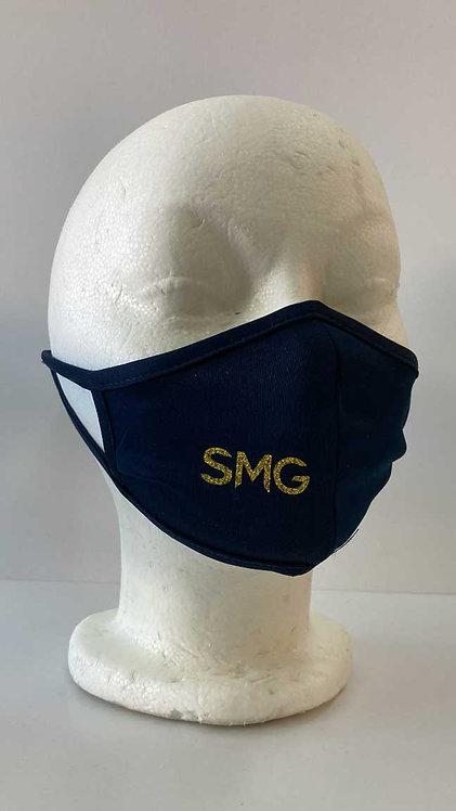 SMG Navy Glitter Mask