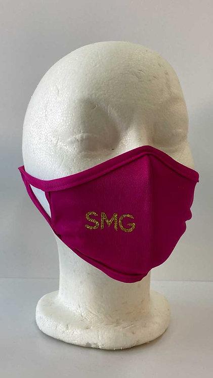 SMG Hot Pink Glitter Mask
