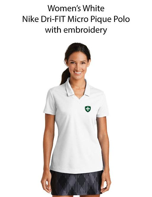 SJS Women's Nike Dri-Fit Polo - White