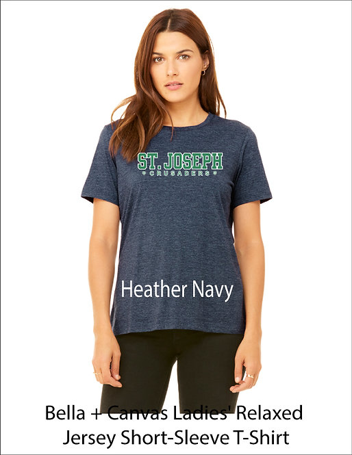 SJS Women's Text Shirt - Heathered Navy