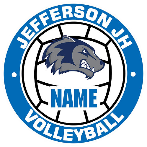 Jefferson Volleyball Yard Sign