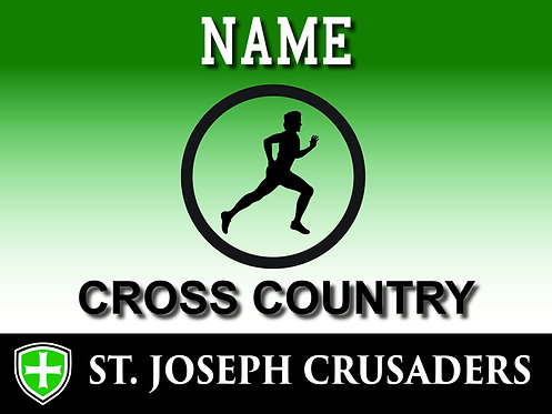 SJS Cross Country Yard Sign