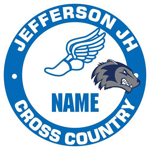 Jefferson Cross Country Yard Sign