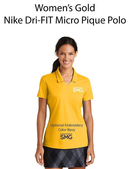 SMG Women's Nike Dri- Fit Polo - Gold