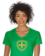 SJS_Women_Shield_Glitter_V_Neck_Irish_Gr