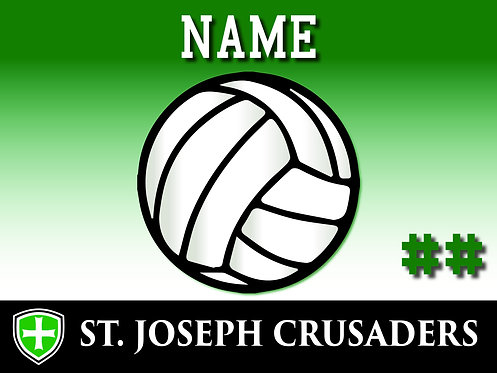 SJS Volleyball Yard Sign