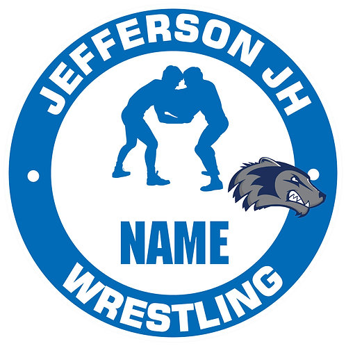 Jefferson Wrestling Yard Sign
