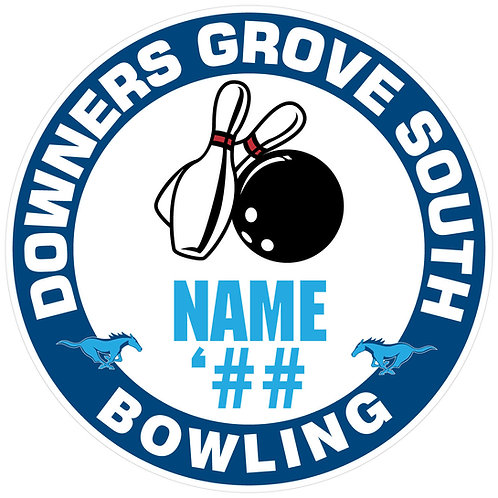 DGS Bowling Sticker