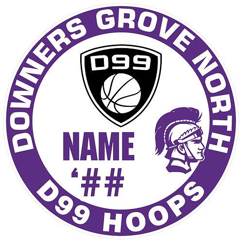 DGN D99 Hoops Sticker