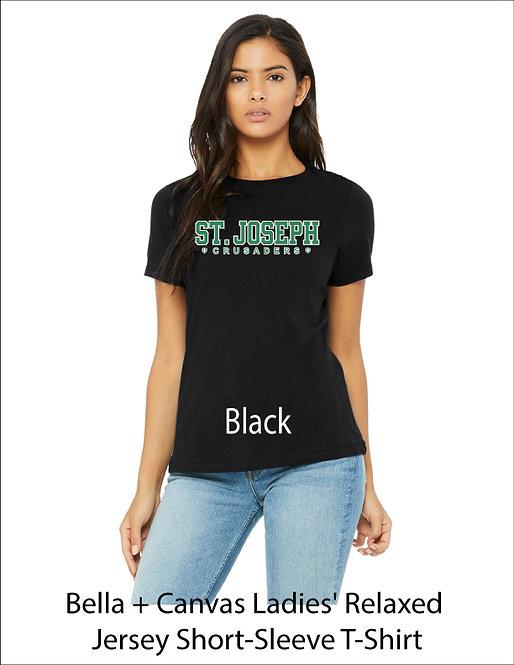 SJS Women's Text Shirt - Black
