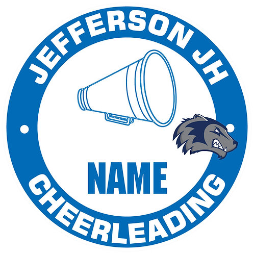 Jefferson Cheerleading Yard Sign