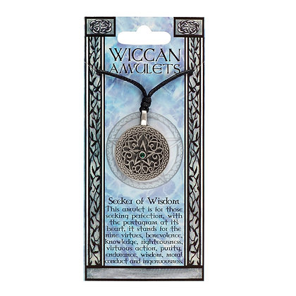 Seeker of Wisdom Wiccan Amulet Necklace