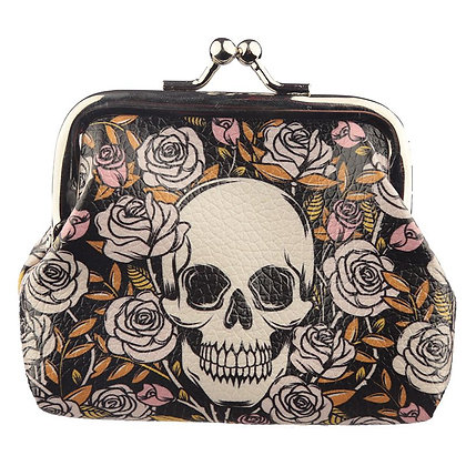 Skull & Roses Tic Tac Purse
