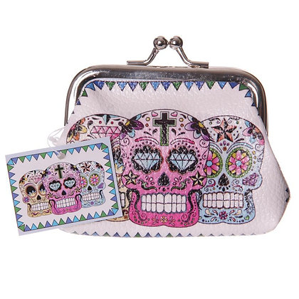 Day of the Dead Skull Tic Tac Purse