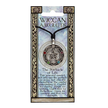 The Pentacle of Life Wiccan Amulet Necklace