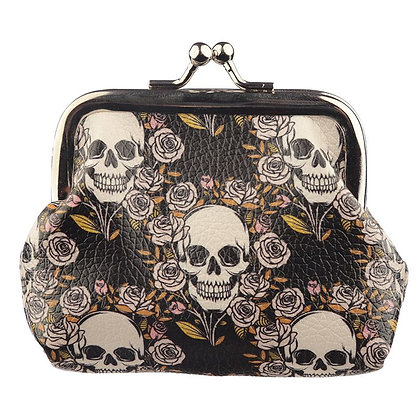 Skulls & Roses Tic Tac Purse