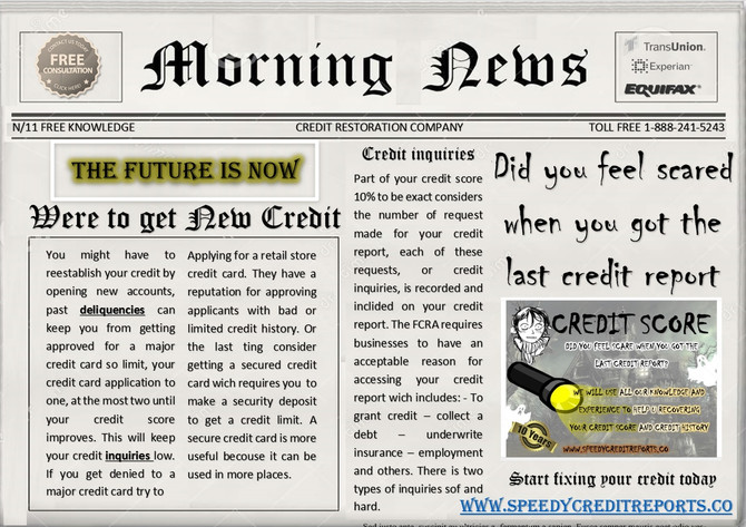 CREDIT REPORT SCARE YOU?