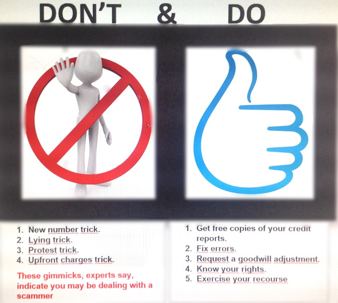 Don't and Do's