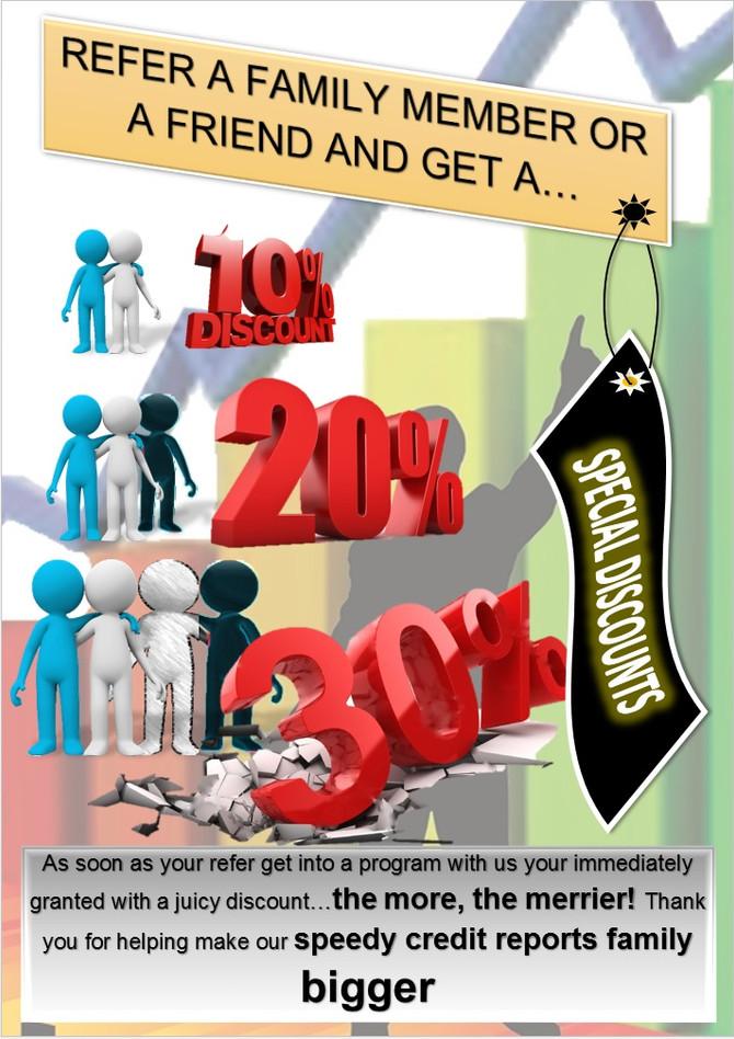 Special discounts...