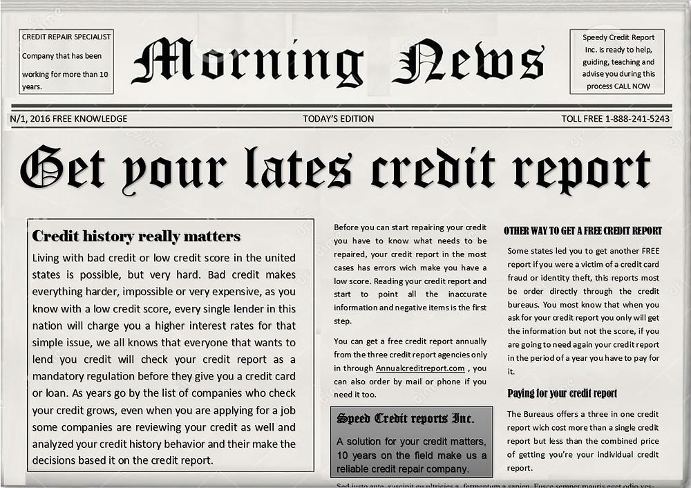 CREDIT REPAIR NEWS