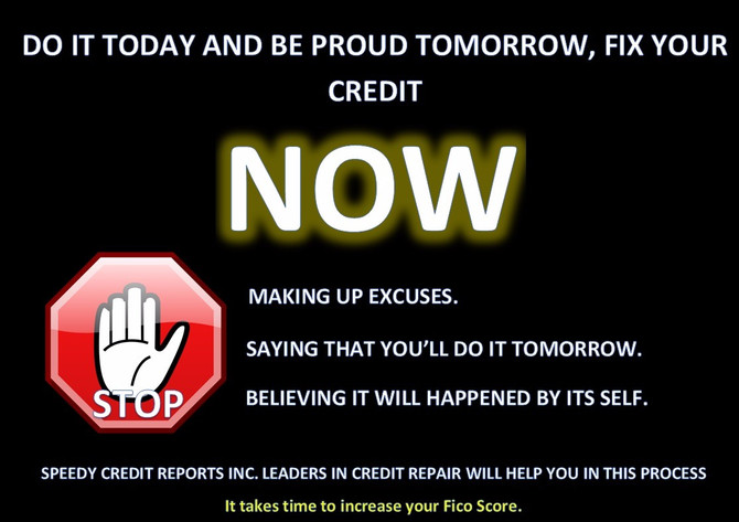 It takes time to fix your credit score, start today