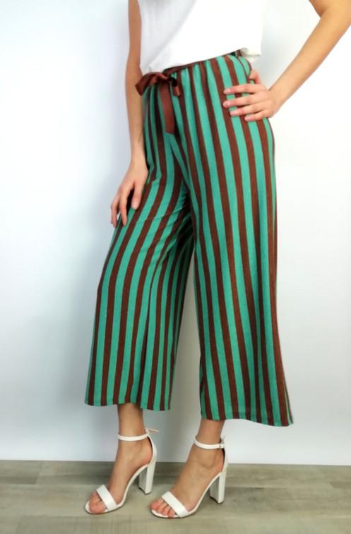 Pantalone Lurex Gonna In Filo Riga Verticale H2WID9EY
