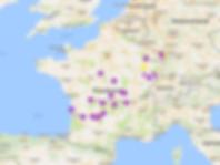 Karte Campingplätze Frankreich
