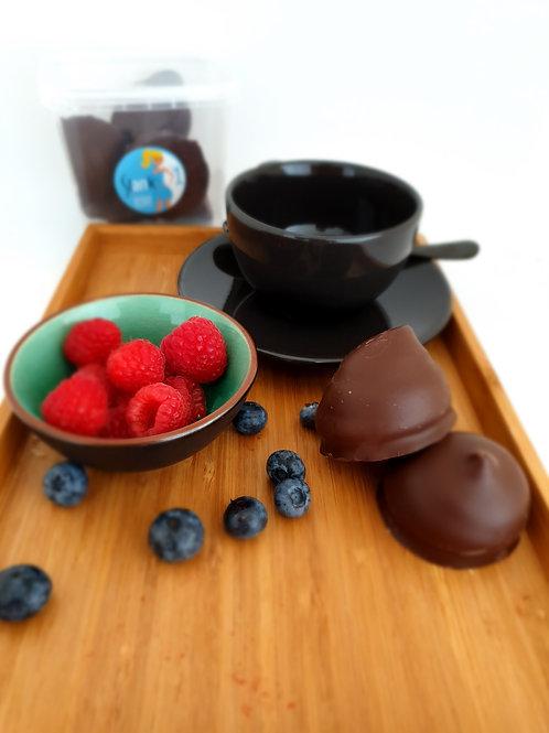 Koolhydraatarme soezen zwarte chocolade stap 1