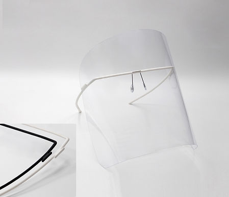 monogram shield/ black + white