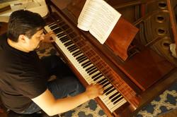 Oscar at piano