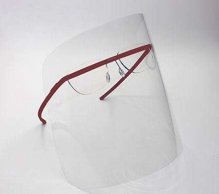 monogram shield red/ optical frame