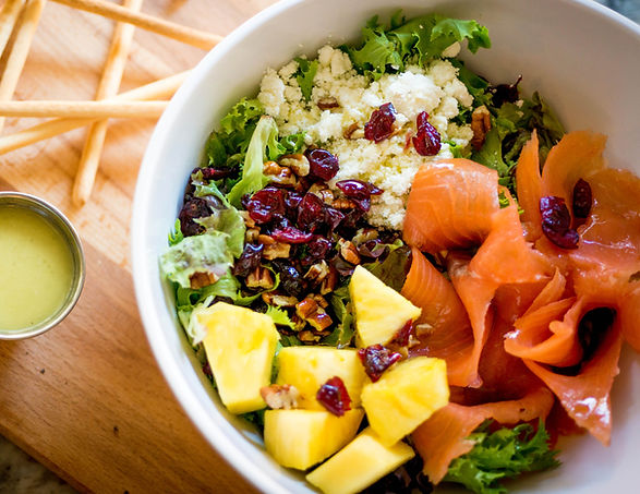 Quinoa Smoked Salmon Salad at D'Oro Caffe