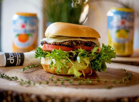 Mushroom Burger D'Oro Caffe