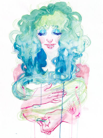 Self Portrait of Illustrator Nozomi Uchida