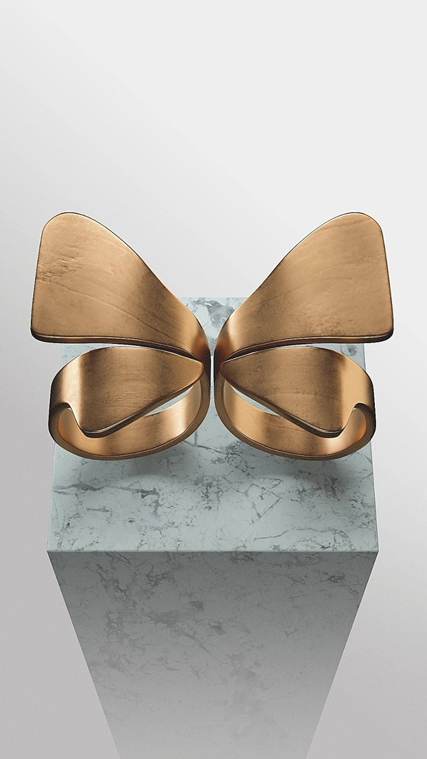 Social Butterfly Ring Set